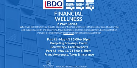 Financial Wellness Workshop: 2 Part Series tickets
