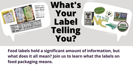 What's Your Label Telling You? tickets