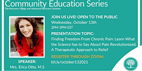 Community Education Series: Finding Freedom From Chronic Pain tickets