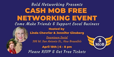 TX | San Antonio Cash Mob - FREE Networking Event | April 2021 tickets