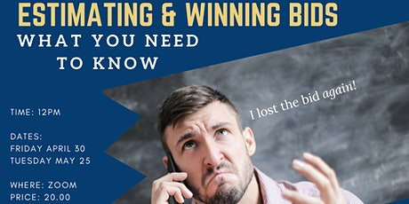 Lunch & Learn: Are you Underbidding? Estimating & Winning bids tickets