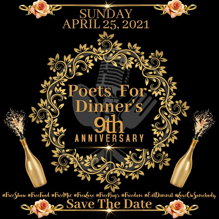 Poets For Dinner 9 Year Anniversary Celebration image