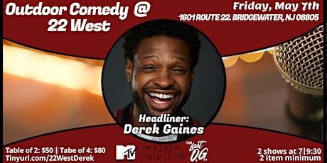 Outdoor Comedy @ 22 West with Derek Gaines tickets