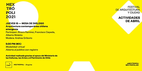 MESA DE DIÁLOGO | Arquitectura contemporánea chilena emergente entradas