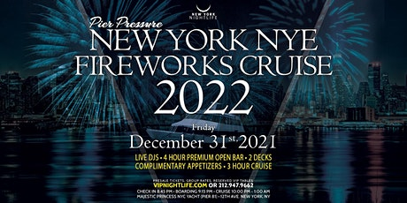 New York New Year's Eve Fireworks Party Cruise 2022 tickets