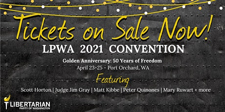 Golden  Anniversary, LPWA 2021 Convention tickets