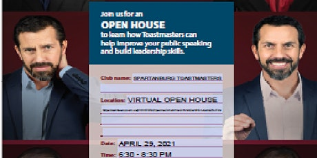 Spartanburg Toastmasters Virtual Open House tickets