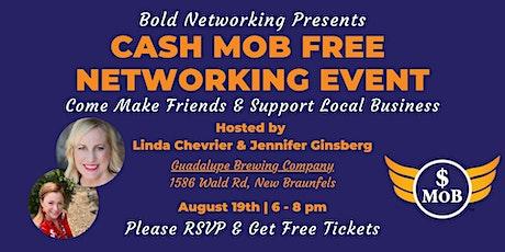 TX | San Antonio Cash Mob - FREE Networking Event | August 2021 tickets