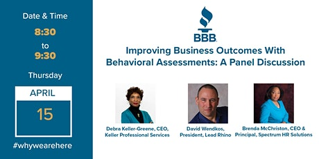 Improving Business Outcomes With Behavioral Assessments: A Panel Discussion tickets