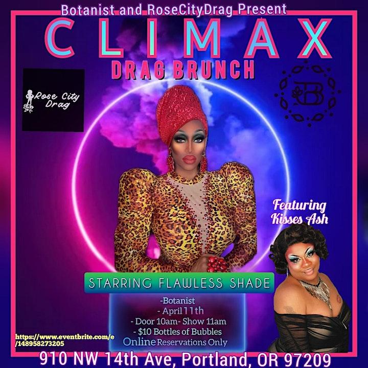 Climax Drag Brunch 4/11/21 image