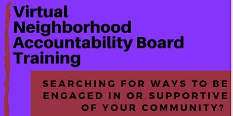 Neighborhood Accountability Board Training tickets