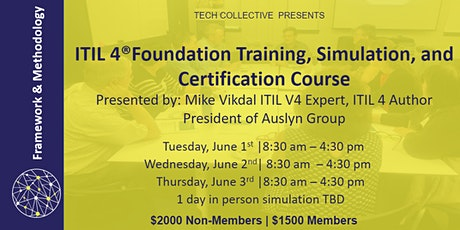 ITIL 4®Foundation Training, Simulation, and Certification Course tickets