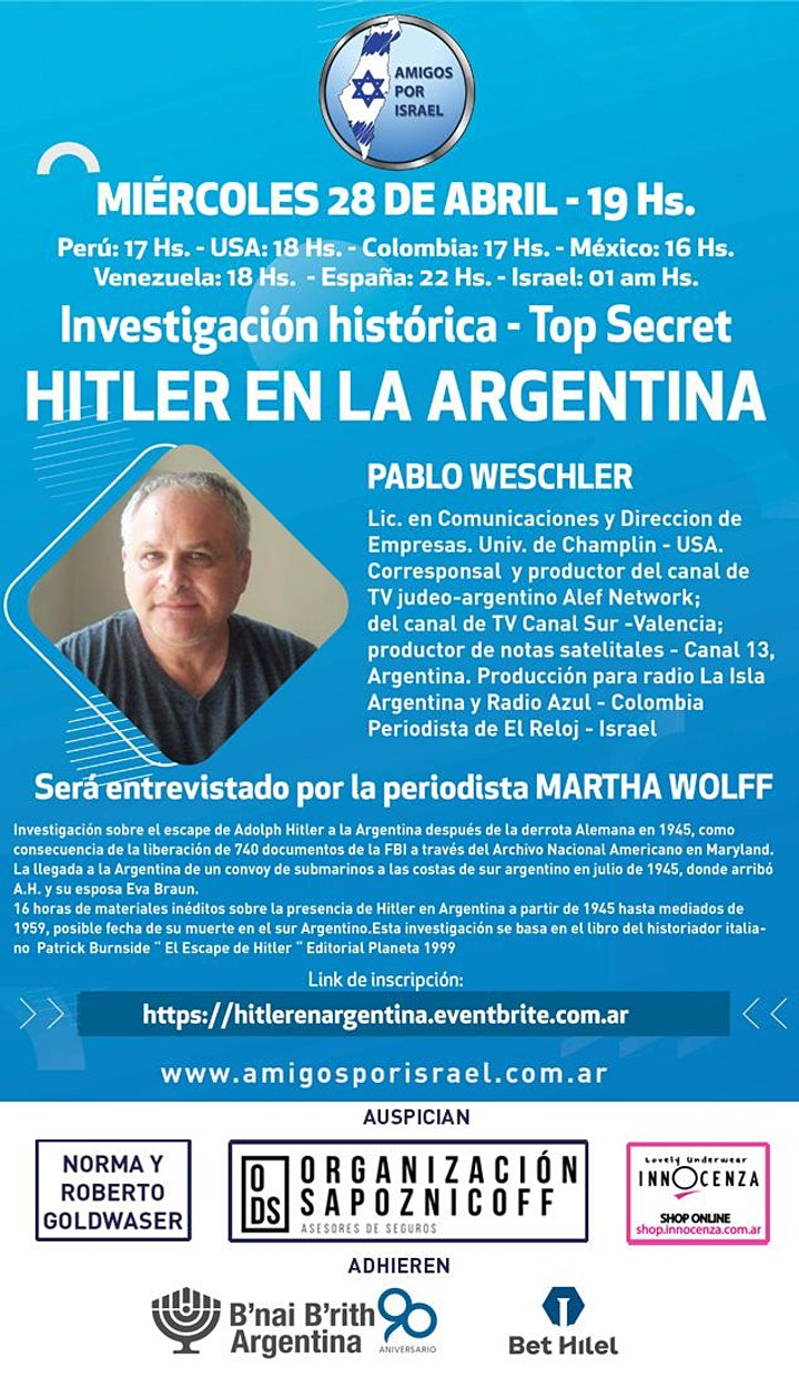 Imagen de INVESTIGACION HISTORICA: HITLER EN ARGENTINA
