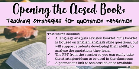 Opening the Closed Book: Teaching Strategies for Quotation Retention tickets