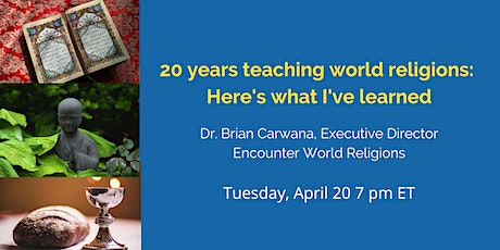 What I've learned teaching world religions for 20 years. tickets