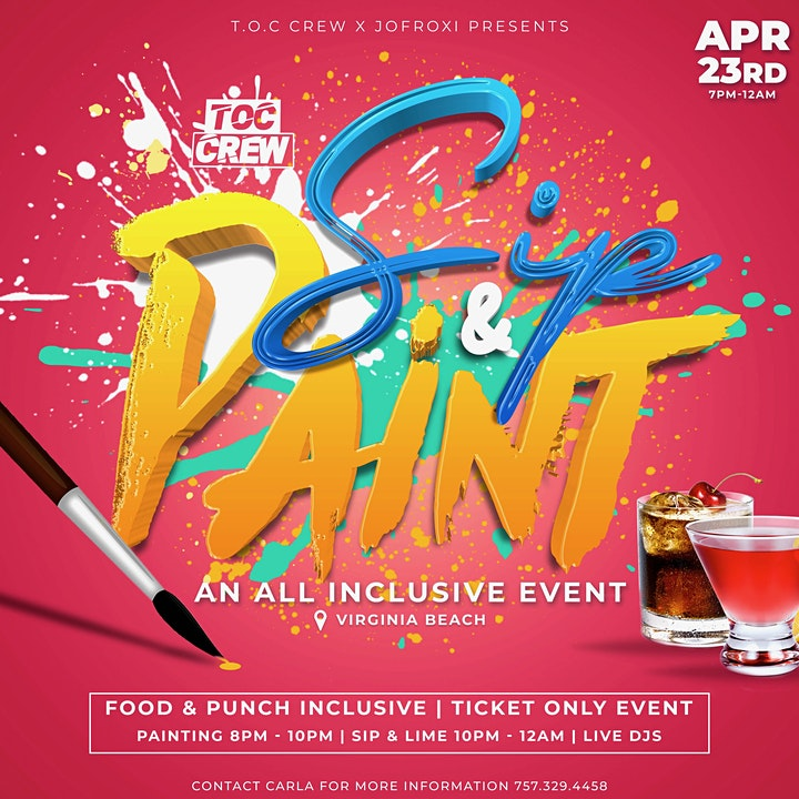 SIP & PAINT An All Inclusive Event image