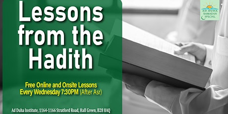 Lessons from the Hadith tickets