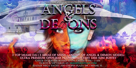 Miami Halloween Party Cruise -  Angels & Demons tickets