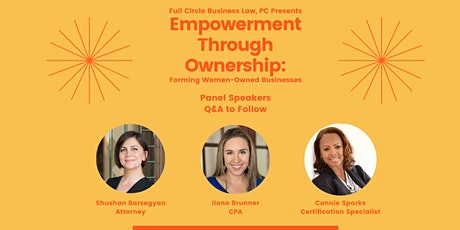 Empowerment Through Ownership: Forming Women-Owned Businesses tickets