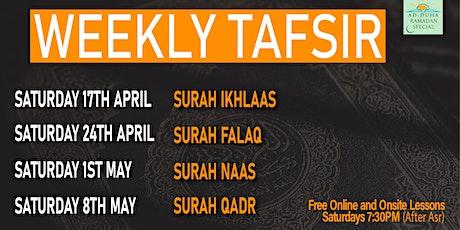 Weekly Ramadan Tafseer Class tickets