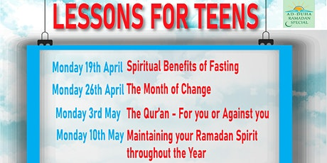 Ramadan Lessons for Teen tickets