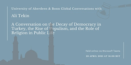 A Conversation on the Decay of Democracy in Turkey tickets