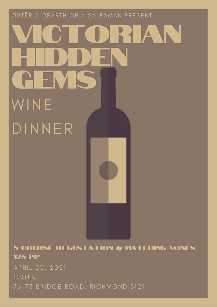 Victorian Hidden Gems. Wine Dinner. image