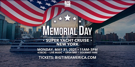 Memorial Day Super Yacht Cruise - New York tickets
