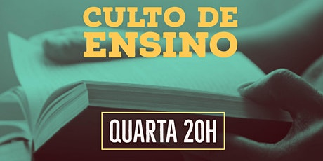Culto de Ensino | Quarta | 20h | Consturindo uma vida espiritual saudável ingressos