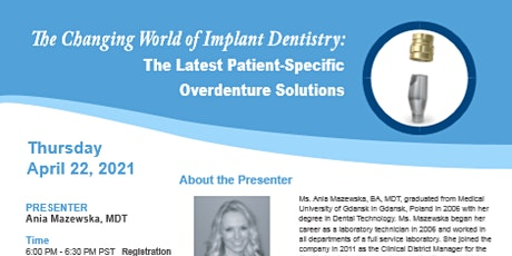 The Latest Patient-Specific Overdenture Solutions tickets