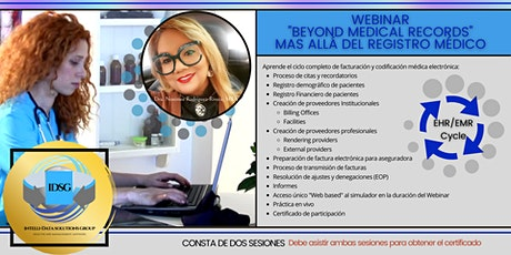 Webinar Beyond Medical Records - Registro Electrónico con Simulador PT 2 bilhetes