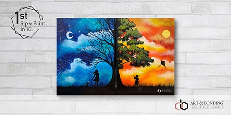 Sip & Paint Date Night : Day Night Fantasy tickets