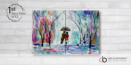 Sip & Paint Date Night : Walking In The Rain tickets