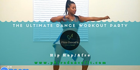 Hip Hop Afro Dance Workout Class on Zoom! Fun! Burn Calories tickets