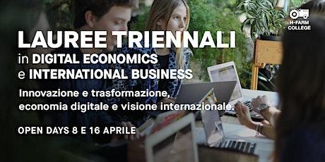 Open Day Digital Economics and Finance + International Business Studies biglietti