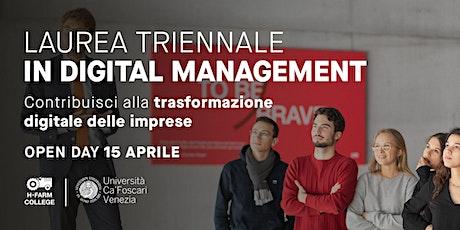 Laurea Triennale in Digital Management - Open Day Online biglietti