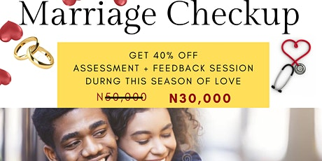 MARRIAGE CHECKUP tickets