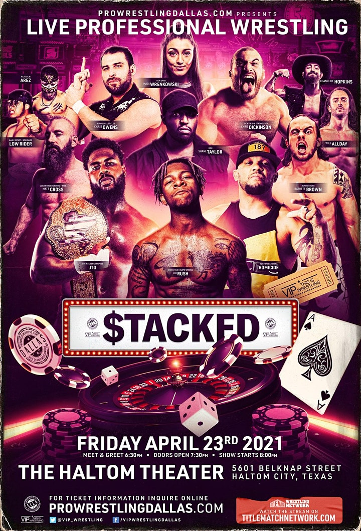 """VIP Wrestling presents """"STACKED"""" image"""