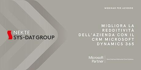 Migliora la redditività dell'Azienda con il CRM Microsoft Dynamics 365 biglietti