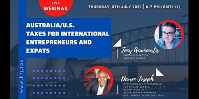(WEBINAR) AUSTRALIA/U.S. TAXES FOR INTERNATIONAL ENTREPRENEURS AND EXPATS.