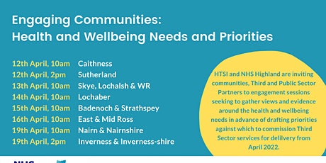 Health and Wellbeing Community Engagement: East & Mid Ross tickets
