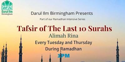 Tafsir of the Last Ten Surahs
