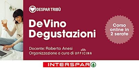 """DeVino Degustazioni: """"Speciale Prosecco"""", corso on line in due serate biglietti"""