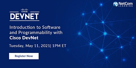 Webinar - Introduction to Software and Programmability with Cisco DevNet tickets