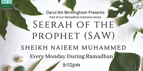 Seerah of the Prophet tickets