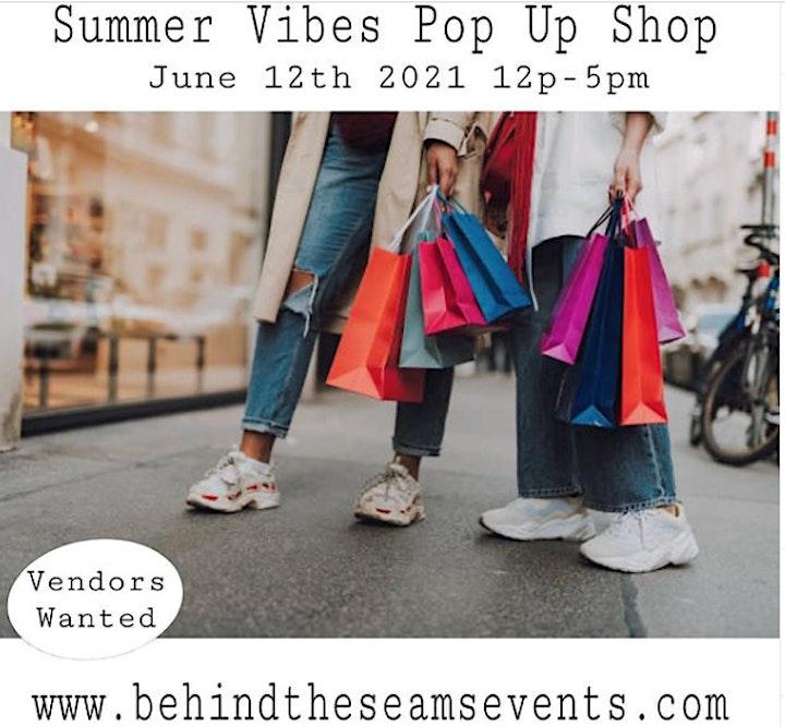 Summer  Vibes  Pop Up Shop Vendor Registration image