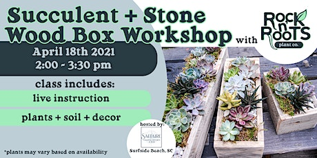 Succulent + Stone Wood Box Workshop at Saltaire Coastal Kitchen & Bar tickets
