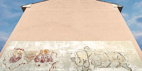 QUA – Quattordio Urban Art / Il primo restauro nella storia di un'opera di biglietti