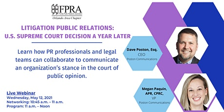 Litigation Public Relations:  U.S. Supreme Court Decision a Year Later tickets
