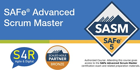 Certified SAFe® Advanced Scrum Master Tickets